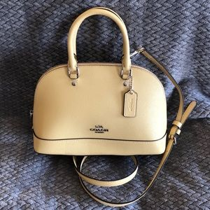 Small Coach Satchel in Buttery Yellow